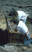 Scientists installing new seismic station